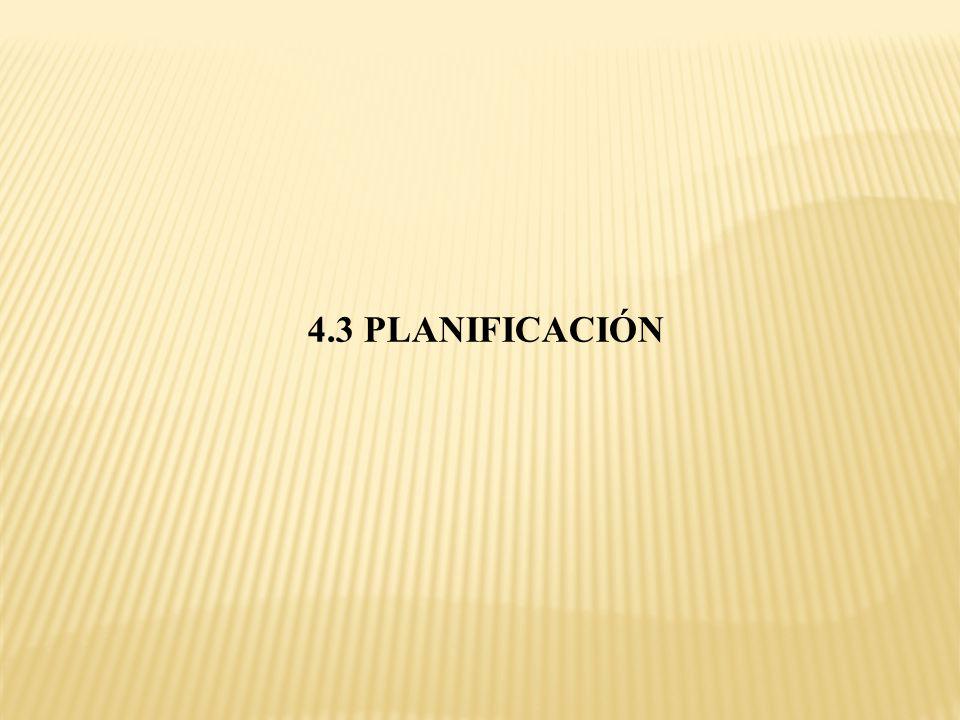 4.3 PLANIFICACIÓN