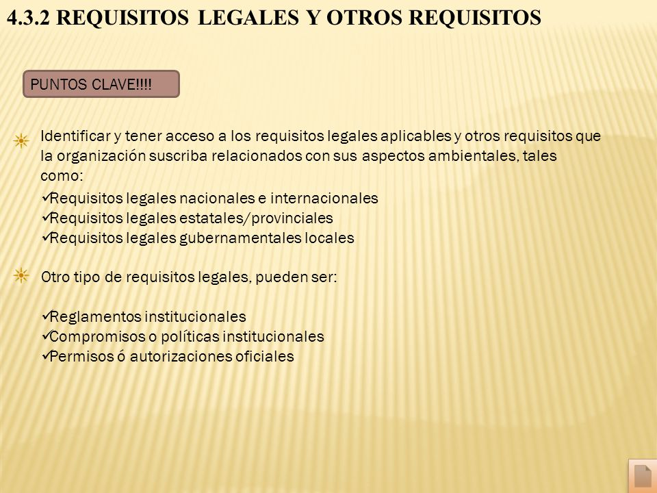 4.3.2 REQUISITOS LEGALES Y OTROS REQUISITOS