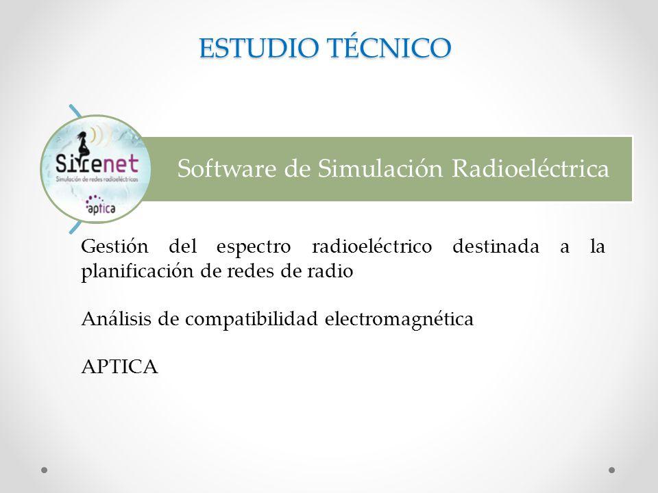ESTUDIO TÉCNICO Software de Simulación Radioeléctrica
