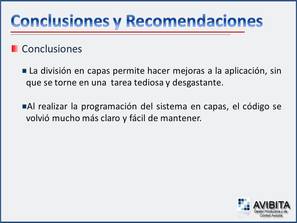 Conclusiones y Recomendaciones