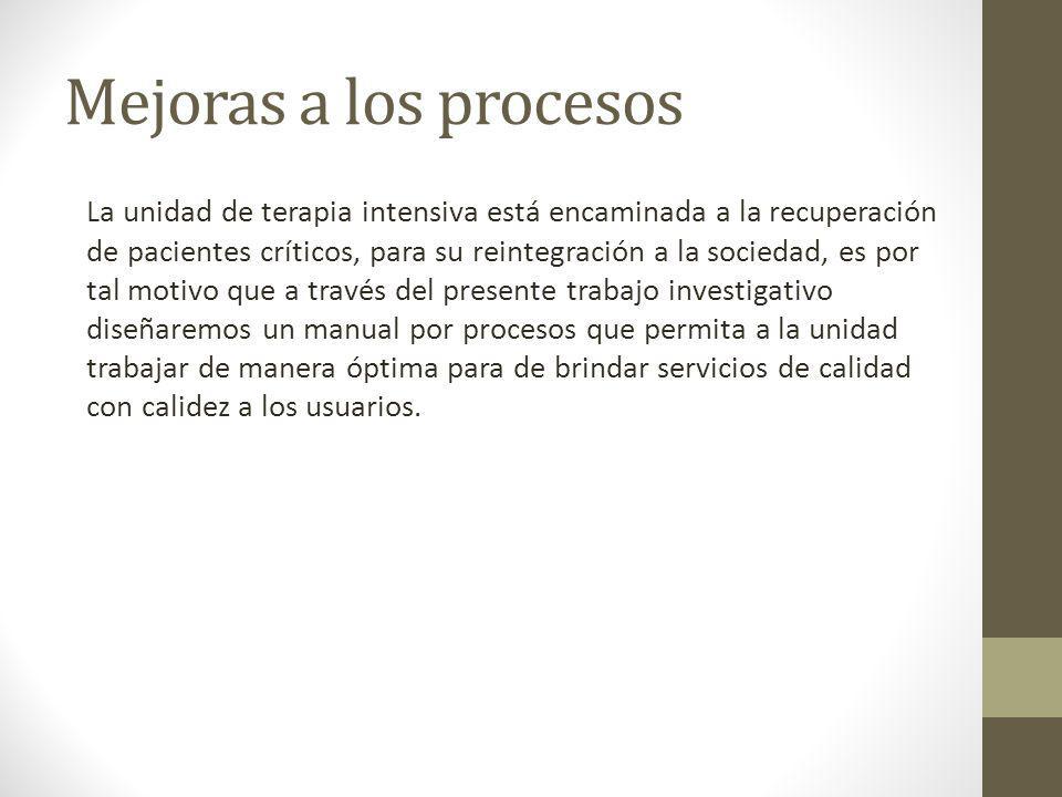 Mejoras a los procesos