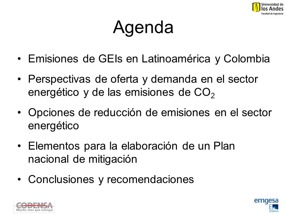 Agenda Emisiones de GEIs en Latinoamérica y Colombia