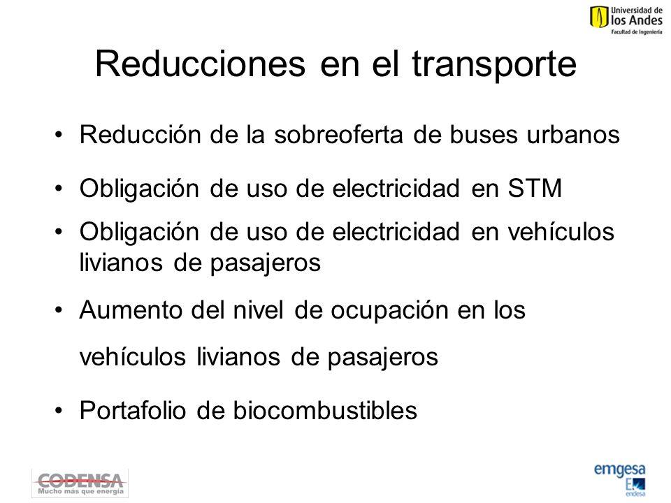 Reducciones en el transporte