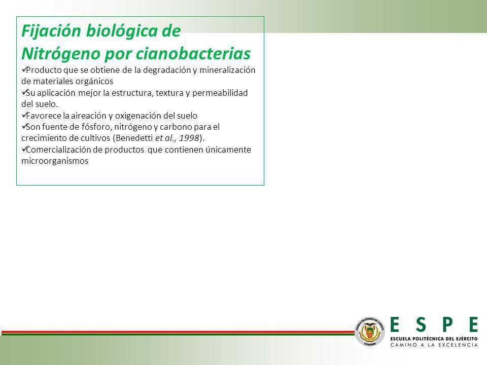 Fijación biológica de Nitrógeno por cianobacterias