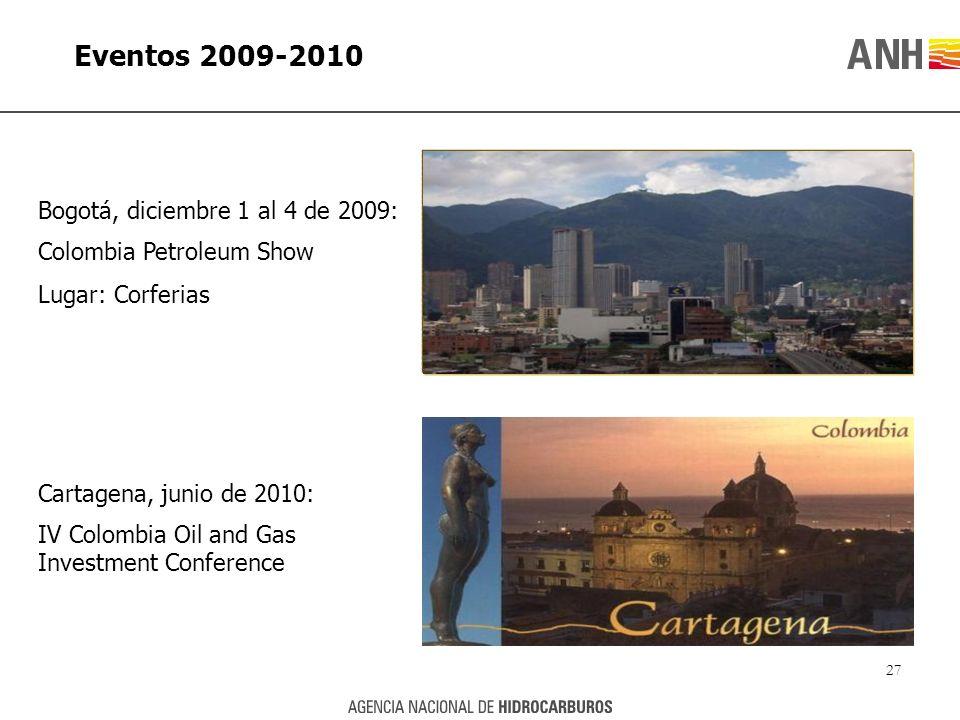 Eventos 2009-2010 Bogotá, diciembre 1 al 4 de 2009: