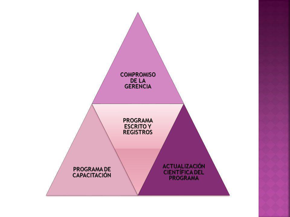 Compromiso de la gerencia Programa de capacitación
