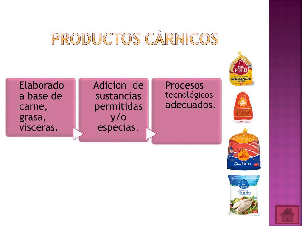 Adicion de sustancias permitidas y/o especias.