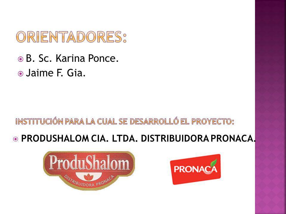 Orientadores: B. Sc. Karina Ponce. Jaime F. Gia.