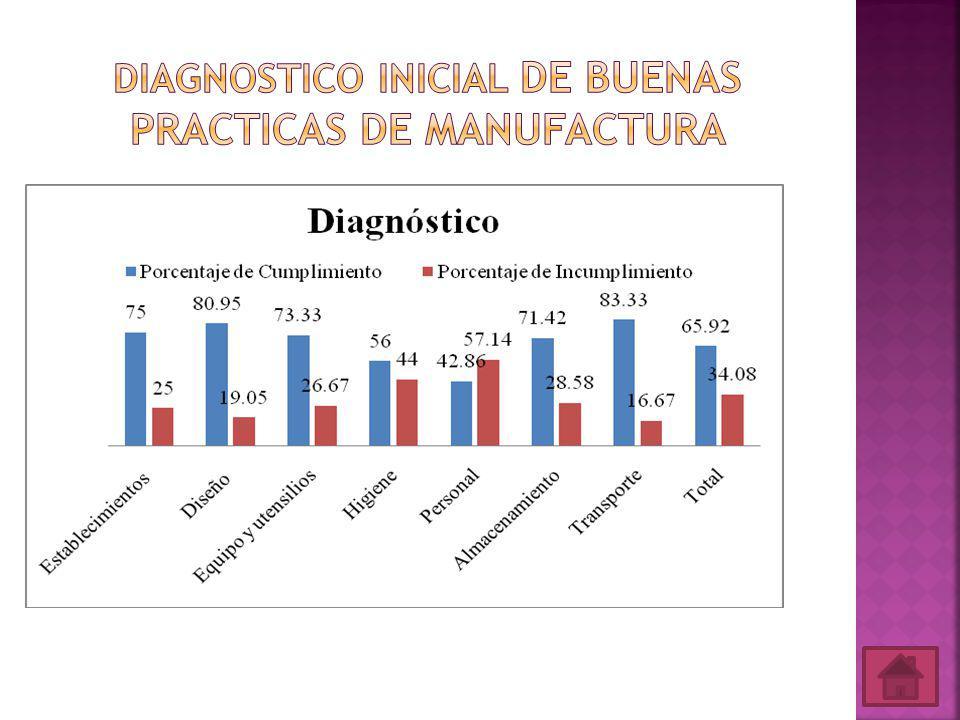Diagnostico Inicial de Buenas Practicas de Manufactura