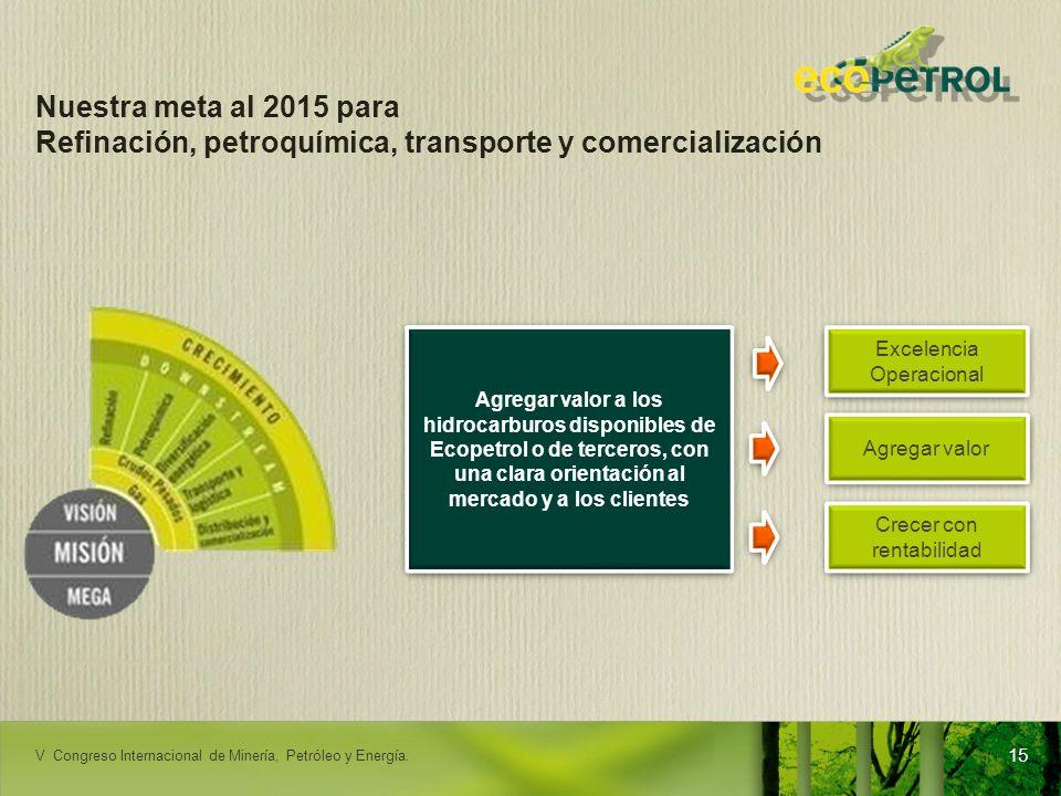 Refinación, petroquímica, transporte y comercialización