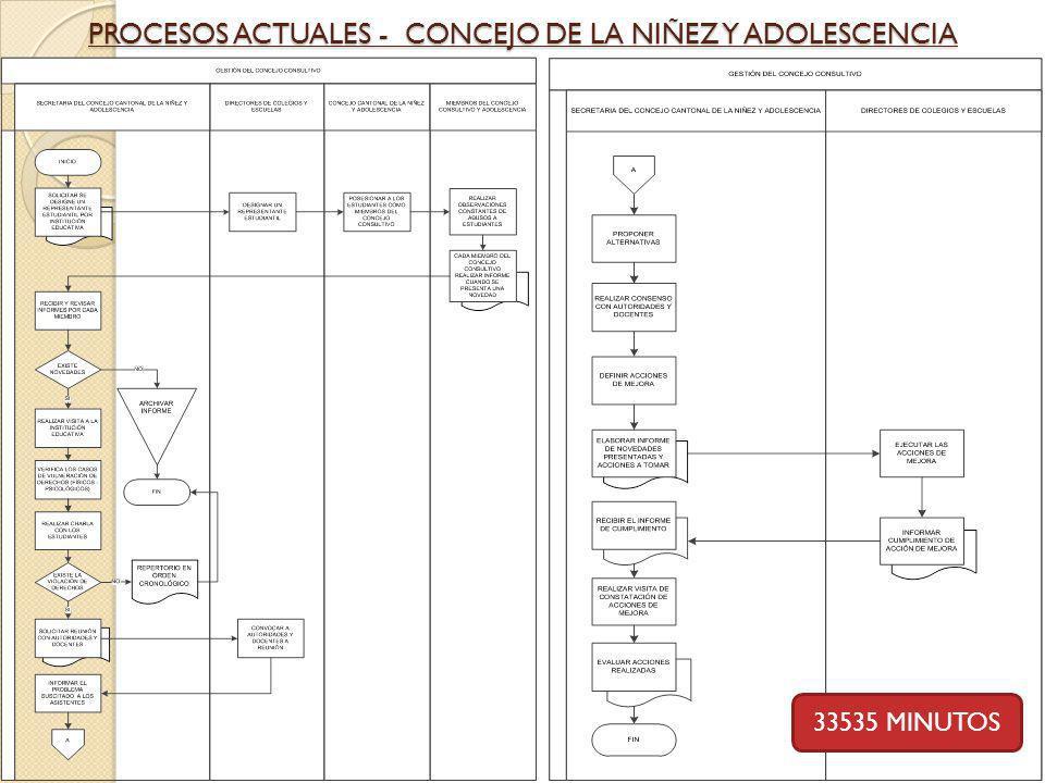 PROCESOS ACTUALES - CONCEJO DE LA NIÑEZ Y ADOLESCENCIA