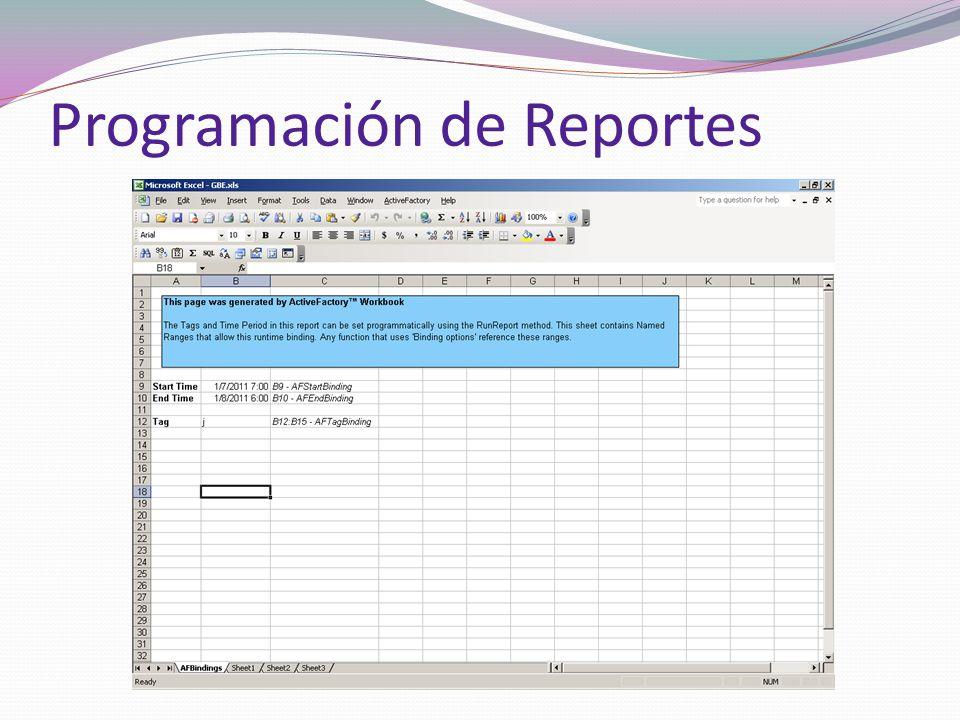 Programación de Reportes