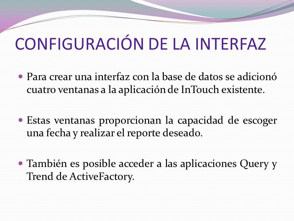 CONFIGURACIÓN DE LA INTERFAZ