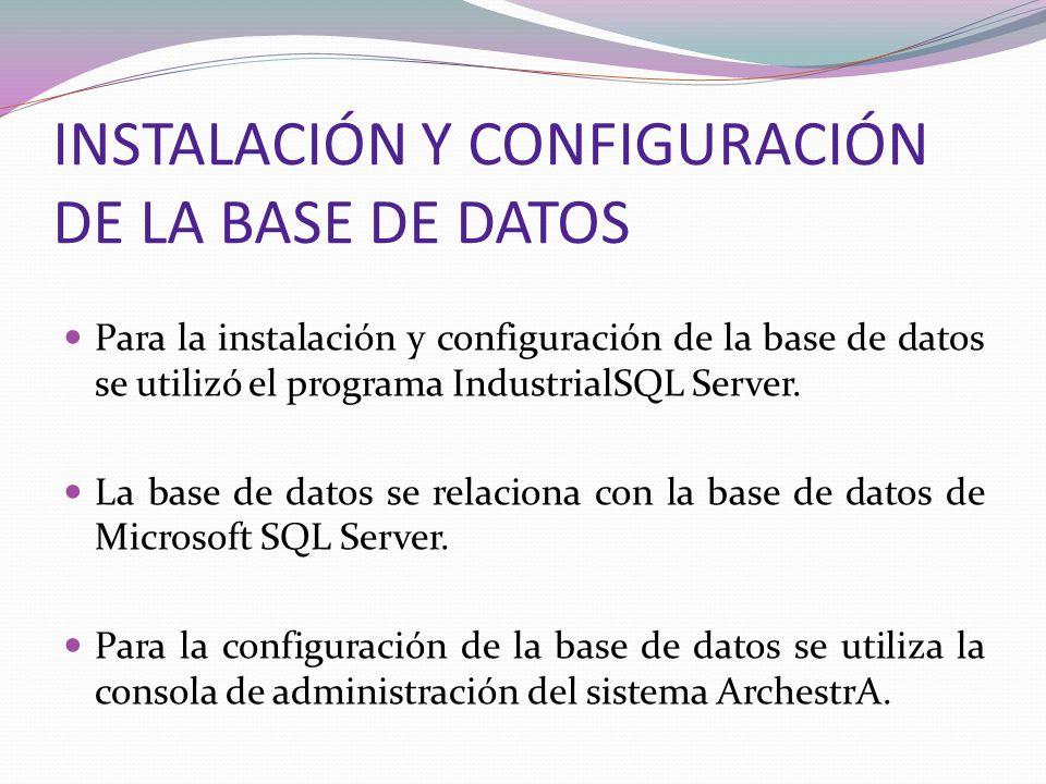 INSTALACIÓN Y CONFIGURACIÓN DE LA BASE DE DATOS