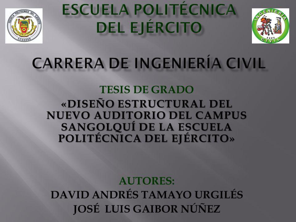 ESCUELA POLITÉCNICA DEL EJÉRCITO CARRERA DE INGENIERÍA CIVIL