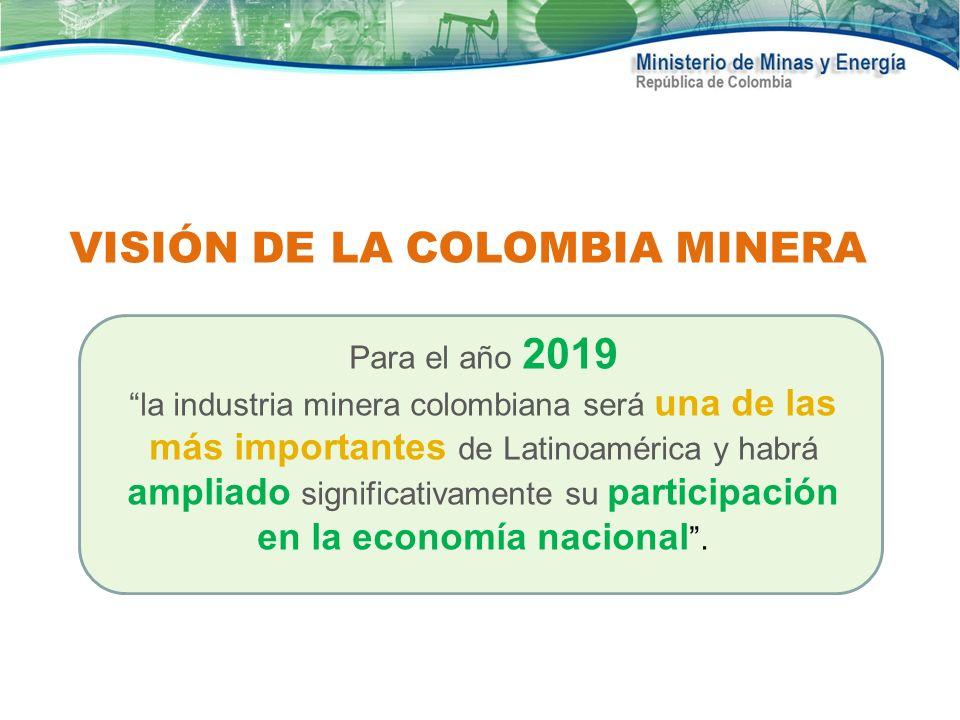 VISIÓN DE LA COLOMBIA MINERA