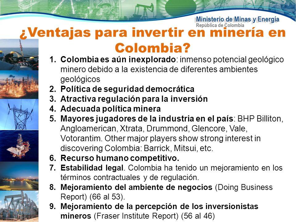 ¿Ventajas para invertir en minería en Colombia