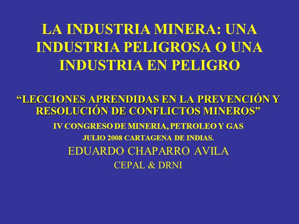 IV CONGRESO DE MINERIA, PETROLEO Y GAS JULIO 2008 CARTAGENA DE INDIAS.
