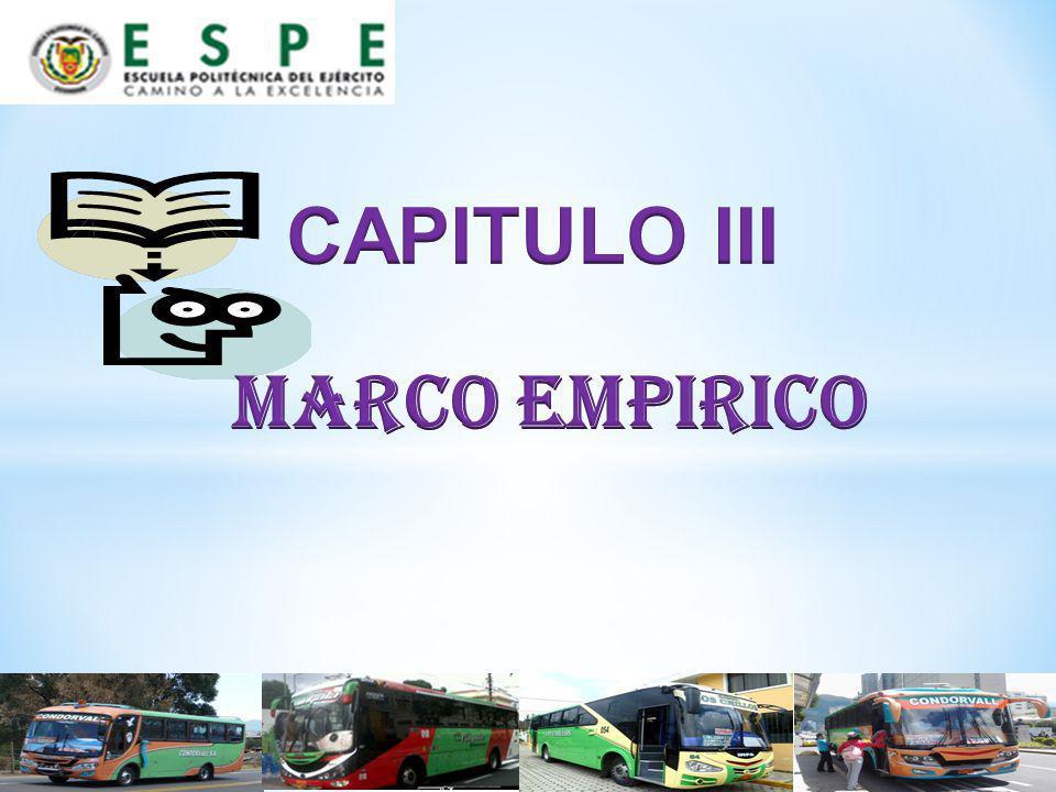 CAPITULO III MARCO EMPIRICO