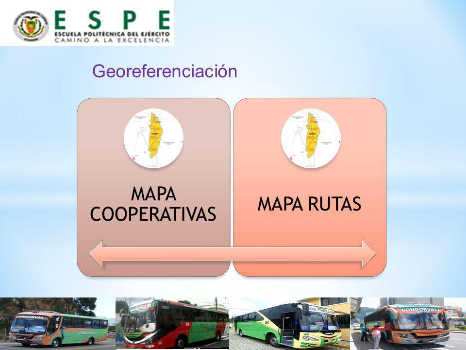 Georeferenciación MAPA COOPERATIVAS MAPA RUTAS