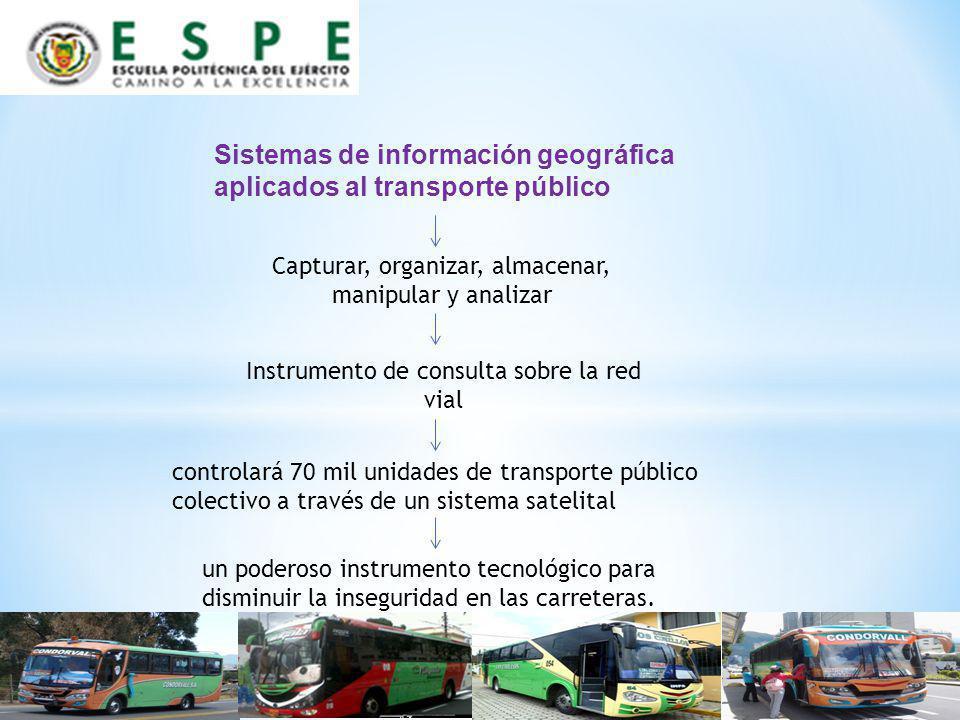 Sistemas de información geográfica aplicados al transporte público
