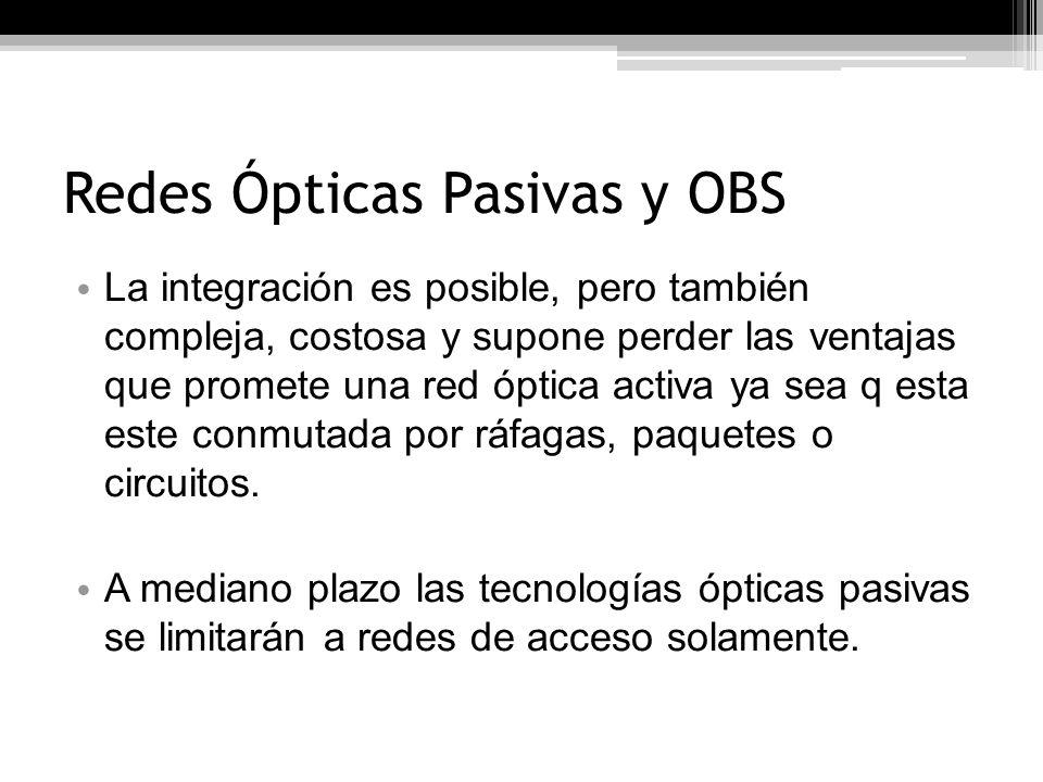 Redes Ópticas Pasivas y OBS
