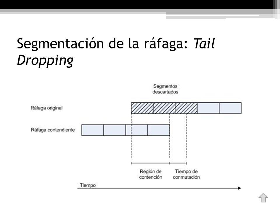 Segmentación de la ráfaga: Tail Dropping