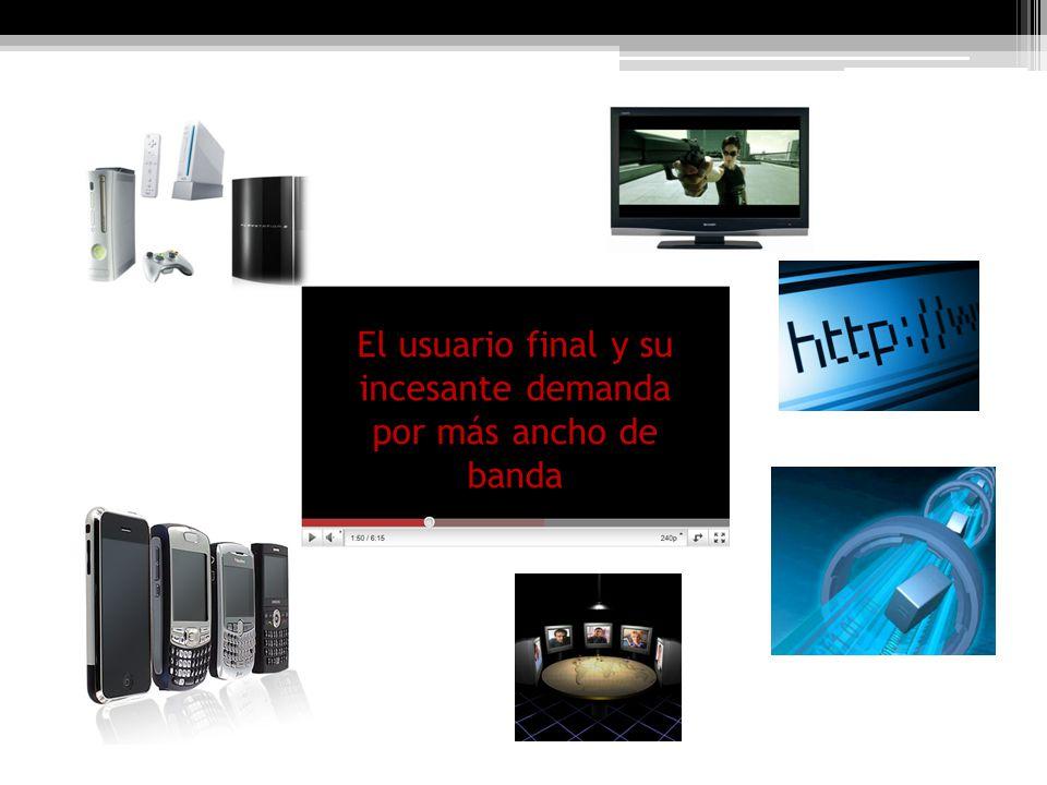 El usuario final y su incesante demanda por más ancho de banda