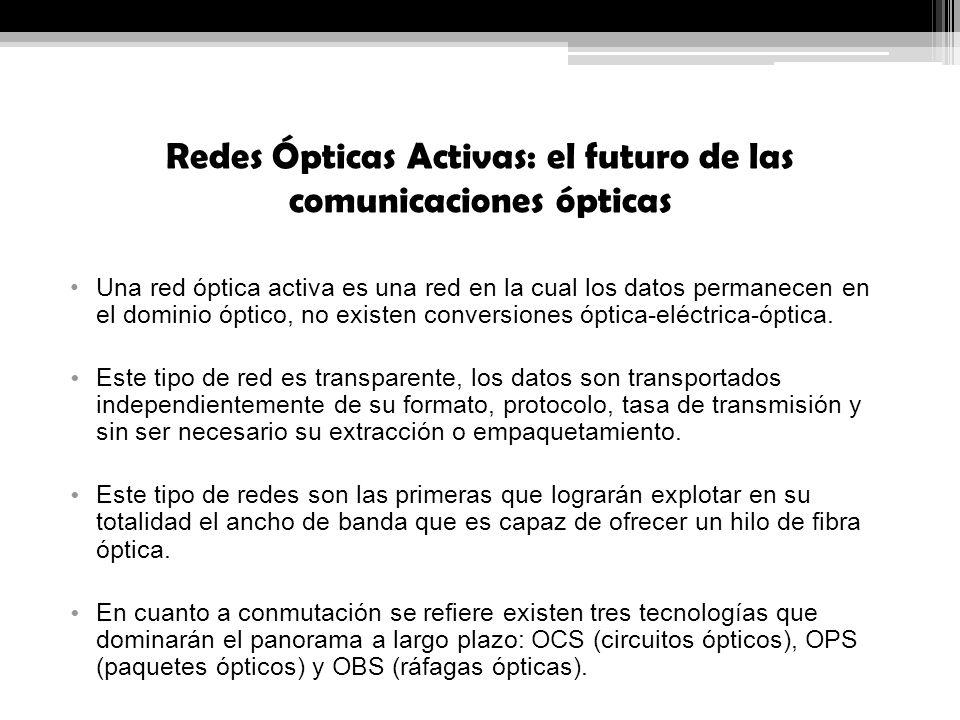 Redes Ópticas Activas: el futuro de las comunicaciones ópticas