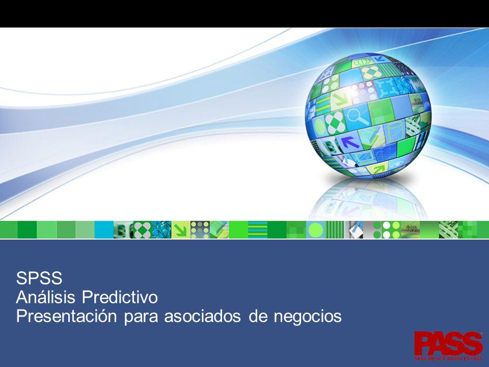 SPSS Análisis Predictivo Presentación para asociados de negocios