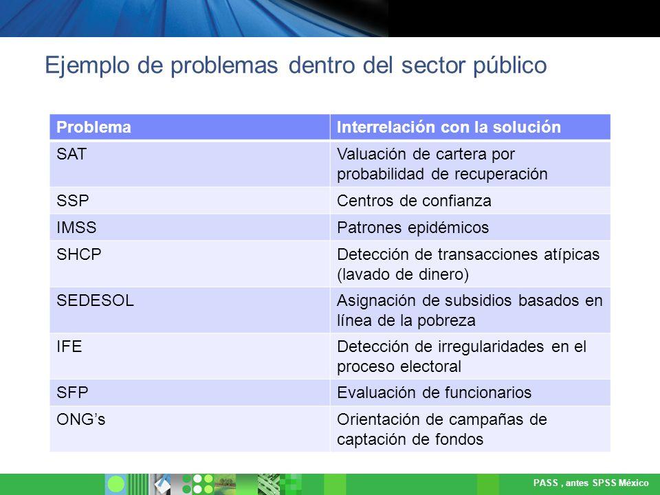 Ejemplo de problemas dentro del sector público
