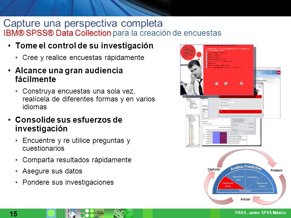 Capture una perspectiva completa IBM® SPSS® Data Collection para la creación de encuestas