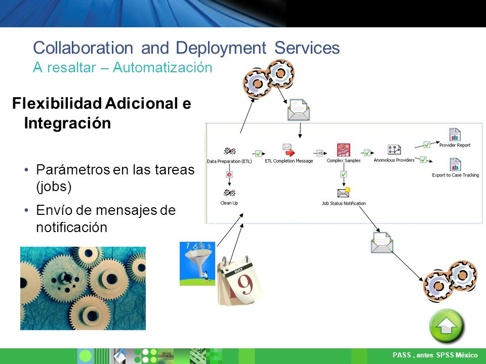 Collaboration and Deployment Services A resaltar – Automatización