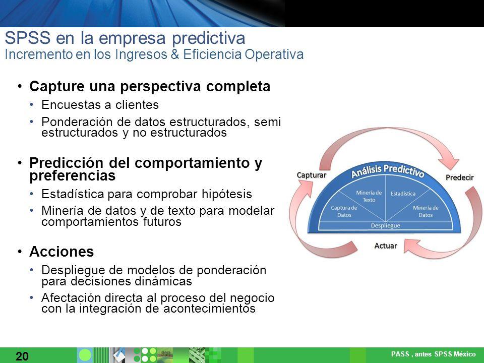 SPSS en la empresa predictiva Incremento en los Ingresos & Eficiencia Operativa