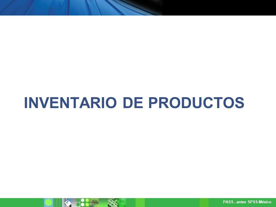 INVENTARIO DE PRODUCTOS