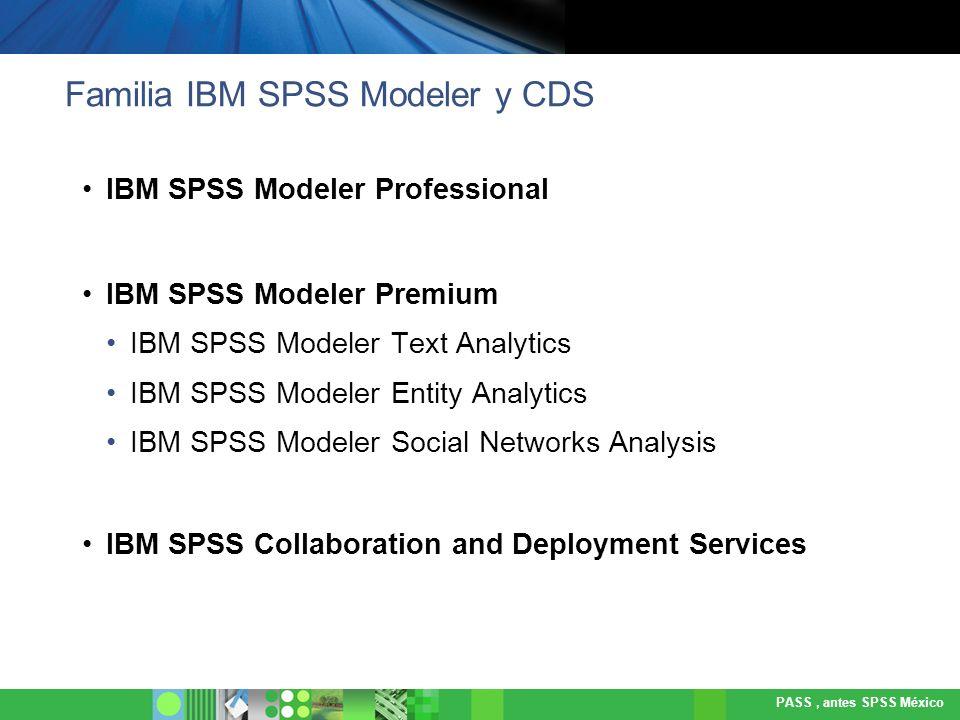 Familia IBM SPSS Modeler y CDS