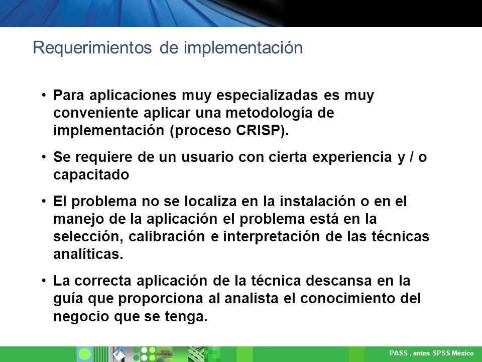 Requerimientos de implementación