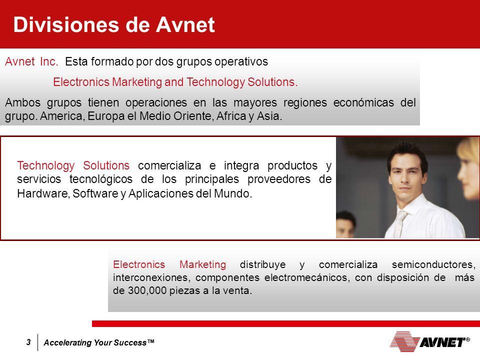 Divisiones de Avnet Avnet Inc. Esta formado por dos grupos operativos