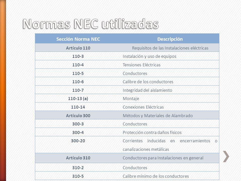 Requisitos de las Instalaciones eléctricas