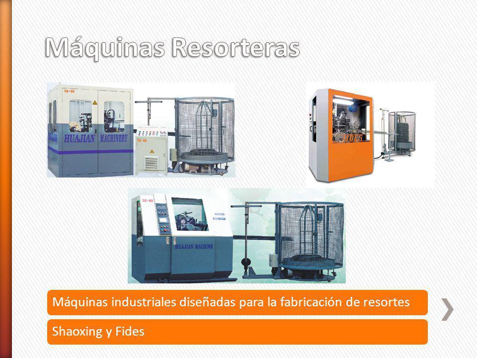 Máquinas Resorteras Máquinas industriales diseñadas para la fabricación de resortes.