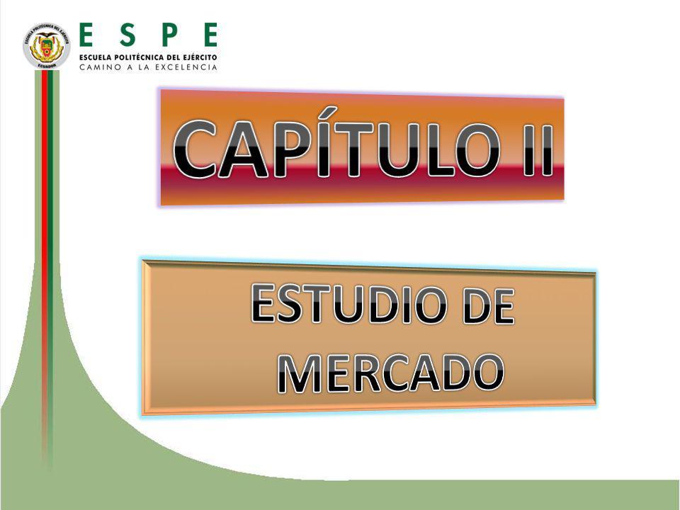 CAPÍTULO II ESTUDIO DE MERCADO