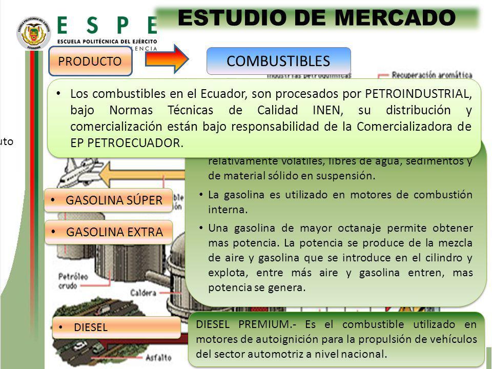 ESTUDIO DE MERCADO COMBUSTIBLES PRODUCTO