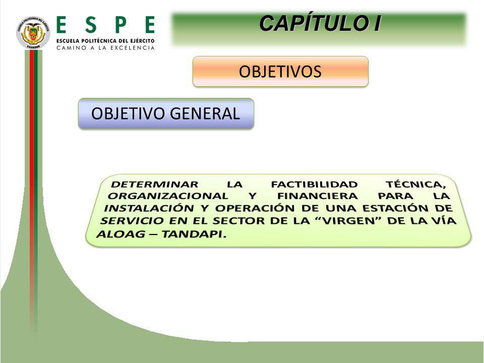 CAPÍTULO I OBJETIVOS OBJETIVO GENERAL