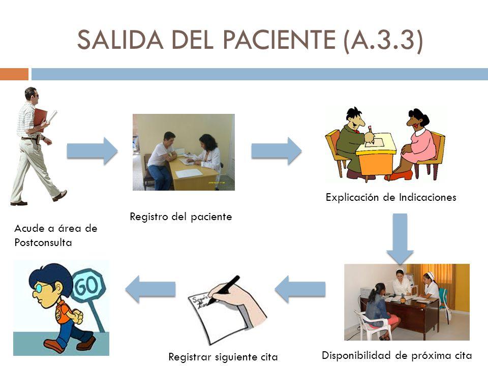 SALIDA DEL PACIENTE (A.3.3)