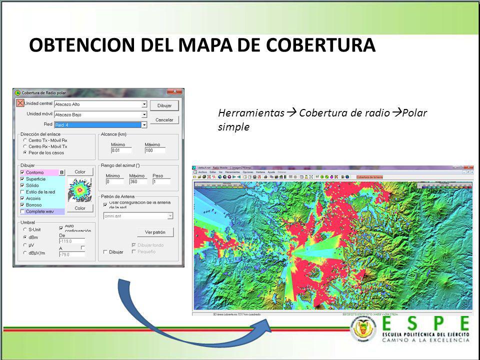 OBTENCION DEL MAPA DE COBERTURA