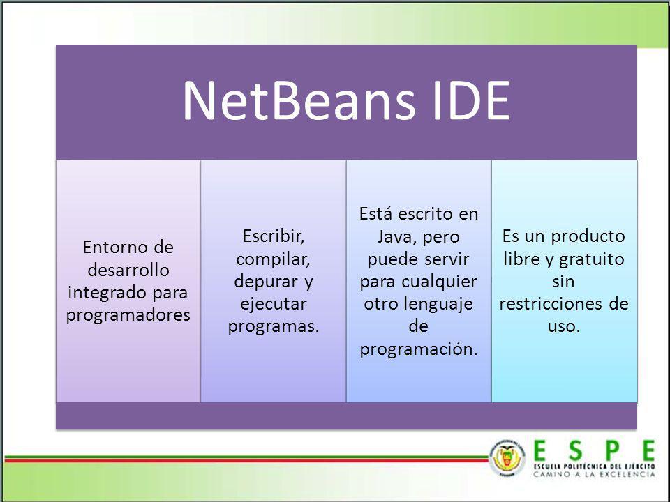 NetBeans IDE Entorno de desarrollo integrado para programadores