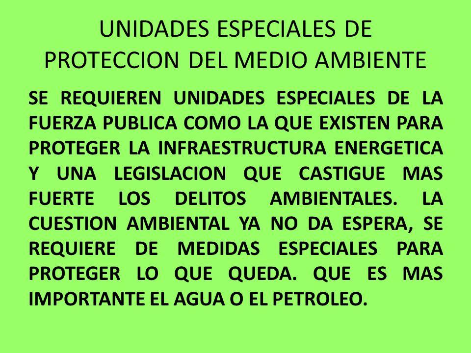 UNIDADES ESPECIALES DE PROTECCION DEL MEDIO AMBIENTE