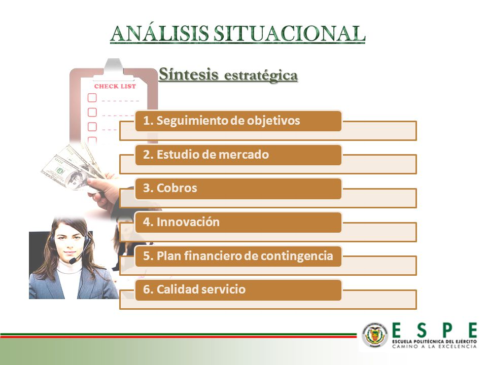 ANÁLISIS SITUACIONAL Síntesis estratégica 1. Seguimiento de objetivos