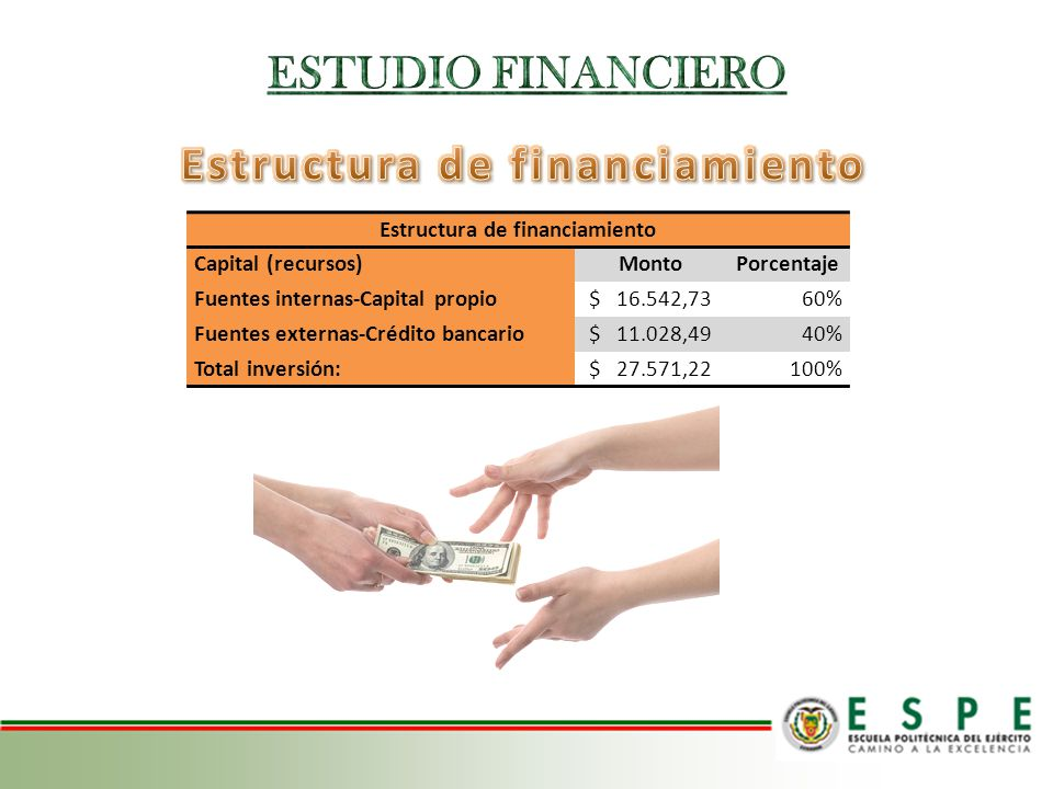 Estructura de financiamiento Estructura de financiamiento
