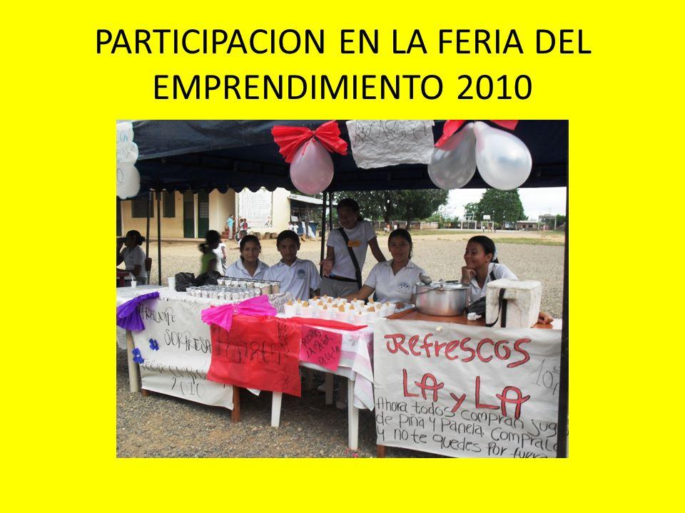 PARTICIPACION EN LA FERIA DEL EMPRENDIMIENTO 2010